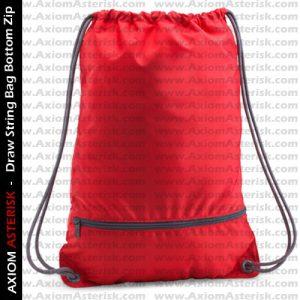 DRAW STRING BAG [ZIP BOTTOM]